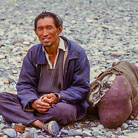 Ex-Khampa soldier from Tibet's rebel army in Nepal