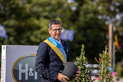 Prijsuitreiking, Vanderhasselt Yves, BEL<br /> Belgisch Kampioenschap Jumping  <br /> Lanaken 2020<br /> © Hippo Foto - Dirk Caremans<br /> <br />  05/09/2020