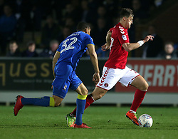 Charlton Athletic's Michael Zyro in action