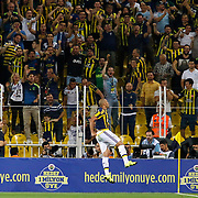 Fenerbahce's Fernandao and supporters during their UEFA Europa league Play-Offs Second Leg soccer match Fenerbahce between Atromitos at the Sukru Saracaoglu stadium in Istanbul Turkey on Thursday 27 August 2015. Photo by Aykut AKICI/TURKPIX