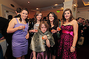Lucy Hammond, Loughrea, Eleanor Hynes, Craughwell, Michelle Geraghty, Craughwell, Megan O'Connor, Loughrea Cliona Dervan Loughrea, at the  Ability West,  second annual Best Buddies ball, 2010 in the Galway Bay Hotel, Salthill Galway. Photo:Andrew Downes.