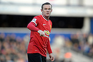 Wayne Rooney, the Manchester United captain looks on. Barclays Premier league match, Queens Park Rangers v Manchester Utd at Loftus Road in London on Saturday 17th Jan 2015. pic by John Patrick Fletcher, Andrew Orchard sports photography.