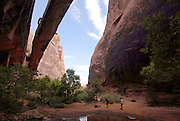 Canyoning from a Giant arch near Arches Bows National Park,Moab,Utah, USA
