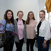 """18.05.2018.          <br /> More than 500 people attended the flagship event of the inaugural Unwrap LSAD Fashion Festival in Limerick.<br /> <br /> Pictured at the event were, Niamh McMahon, Kate O'Doherty, Katie Ford and Anna O'Doherty.<br /> <br /> The Limerick School of Art & Design, LIT, Fashion Design Graduate Exhibition and launch of the """"The Fashion Film"""" at Limerick City Gallery of Art, in partnership with EVA International, attracted hundreds of people from the world of fashion. <br /> <br /> A total of 27 fashion graduates presented their designs alongside the specially commissioned film by fashion stylist and creative director Kieran Kilgallon and videographer Albert Hooi. Picture: Alan Place"""