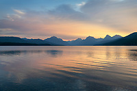 Sunrise over Lake McDonald Glacier National Park Montana