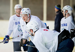 Jan Urbas during practice session of Slovenian Ice Hockey National Team at training camp, on February 8th, 2016 in Ledna dvorana, Bled, Slovenia. Photo by Vid Ponikvar / Sportida