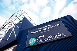 A General View showing the branding of new club sponsor Intuit Quickbooks - Photo mandatory by-line: Rogan Thomson/JMP - 07966 386802 - 26/08/2014 - SPORT - FOOTBALL - The Hawthorns, West Bromwich - West Bromwich Albion v Oxford United - Capital One Cup Round 2.