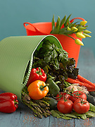 Tubtrug with flowers and vegetables<br /> <br /> Gardener's Supply Company