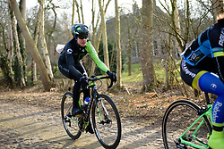 Marcella Toldi across the cobbles at Drentse 8 van Westerveld 2018 - a 142 km road race on March 9, 2018, in Dwingeloo, Netherlands. (Photo by Sean Robinson/Velofocus.com)