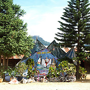 Christmas nativity scene in Lat village, Lam Dong province, The Central Highlands, Vietnam