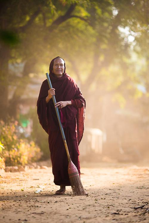 Buddhist Monk, Myanmar.<br /> Photo by Lorenz Berna