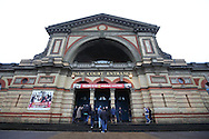 Crowds entering Alexandra Palace for the start of today's play. Ronnie O'Sullivan v Liang Wenbo, 1st round match at the Dafabet Masters Snooker 2017, day 1 at Alexandra Palace in London on Sunday 15th January 2017.<br /> pic by John Patrick Fletcher, Andrew Orchard sports photography.