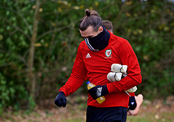 CARDIFF, WALES - Monday, November 19, 2018: Wales' Gareth Bale arrives for a training session at the Vale Resort ahead of the International Friendly match between Albania and Wales. (Pic by David Rawcliffe/Propaganda)