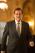 Mariano Rajoy arriving Westin Palace Hotel for the Economist meeting