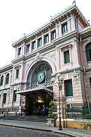 Saigon Central Post Office is the main post office in Ho Chi Minh City.  The building was built when Vietnam was part of French Indochina in the 19th century. It was designed and constructed by the famous architect Gustave Eiffel in harmony with the surrounding area of Saigon.  Construction of this Gothic styled building began in 1886 and it was completed in 1891.