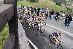 Emma Johansson (Wiggle Hi5) in the front five riders - Emakumeen Saria - Durango-Durango 2016. A 113km road race starting and finishing in Durango, Spain on 12th April 2016.