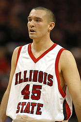 19 November 2005: Redbird Brandon Holtz. In a non-conference race that came down to a photo finish, the Illinois State Redbirds slipped past the Indianapolis University Greyhounds 54-50 at Redbird Arena in Normal Illinois