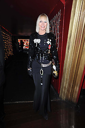 VIRGINIA BATES at a party and fashion show to celebrate the 40th anniversary of Butler & Wilson held at Koko, 1 Camden High Street, London NW1 on 12th November 2009.