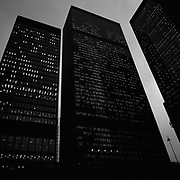 The TD Bank Towers at dusk after a work day, in Toronto's Financial District..(Credit Image: © Louie Palu/ZUMA Press)