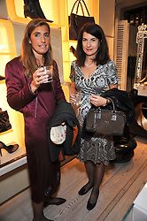 Left to right, VIRGINIA VOLI and ALAI ETEDESCHI at a party to celebrate the arrival of the 'A Princess to be a Queen' collection at the Roger Vivier boutique on Sloane Street, London on 20th October 2009.