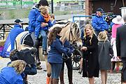 De koninklijke familie is in Zwolle voor de viering van Koningsdag. /// The royal family is in Zwolle for the celebration of King's Day.<br /> <br /> Op de foto / On the photo:  Prinses Amalia