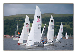 Largs Regatta Week - August 2012..RS200's within the Slow Handicap Dinghy Start