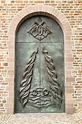 Metal doors Sint Servaasbasiliek, Saint Servatius church, Maastricht, Limburg province, Netherlands,