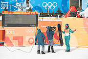 Scotty James, Australia, during the mens halfpipe qualifications at the Pyeongchang Winter Olympics on 13th February 2018 at Phoenix Snow Park in South Korea.