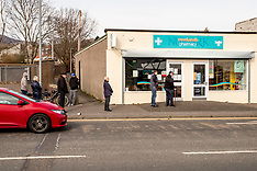 Social Isolation when queuing, Penicuik, 23 March 2020