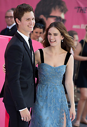 Eliza Gonzalez, Lily James, Ansel Elgort, Jamie Foxx, Jon Hamm, Bill Bailey and Mark Wright attend the European Premiere of Baby Driver from the Film Red Carpet Arrivals at Cineworld, Leicester Square in London.<br /><br />21 June 2017.<br /><br />Please byline: Vantagenews.com