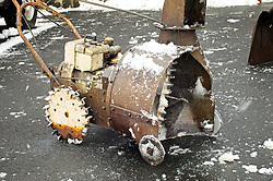 """Owner of this rusty snowblower tells that it still gets the work done. """"Yes, it's ugly"""" he adds."""