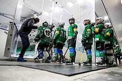Kids during ice hockey match between HK SZ Olimpija Ljubljana and Steinbach Black Wings Linz in bet-at-home ICE Hockey League, on September 26, 2021 in Hala Tivoli, Ljubljana, Slovenia. Photo by Morgen Kristan / Sportida