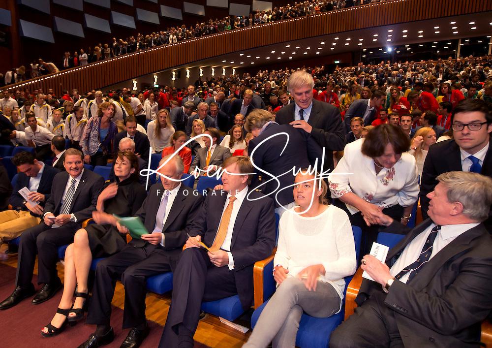 THE HAGUE - Koning Willem Alexander bij opening World Cup in World Forum .PHOTO KOEN SUYK