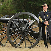 Re-enactor Jack Travis is seen at the Brunswick Town/Fort Anderson State Historic Site Tuesday,  Feb. 22, 2011.After two decades of shooting off period cannons, he's taught himself a lot about Civil War artillery. Now, he writes books about it. Photo By Mike Spencer/STAR-NEWS