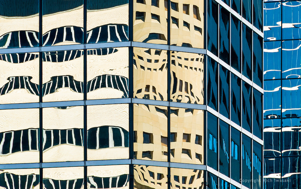 Window reflections in Fifth Third Avenue Center building, Tampa, Florida