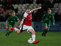 February 20, 2019 - Borehamwood, Hertfordshire, United Kingdom - Kim Little (Captain) of Arsenal scores from the penalty spot  during the FA Women's Super League football match between Arsenal Women and Yeovil Town L.F.C.at Meadow Park on February 20, 2019 in Borehamwood, England. (Credit Image: © Action Foto Sport/NurPhoto via ZUMA Press)