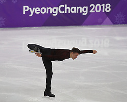 February 17, 2018 - Pyeongchang, KOREA - Jorik Hendrickx of Belgium competing in the men's figure skating free skate program during the Pyeongchang 2018 Olympic Winter Games at Gangneung Ice Arena. (Credit Image: © David McIntyre via ZUMA Wire)