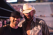Norman, OK - Backstage and in the VIP room at Toby Keith's Tornado Relieve Concert with Dar Holdsworth owner of Brass Ball Bobbers.