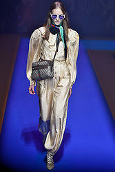 Model Kasia Oskard walks on the runway during the Gucci Fashion Show during Milan Fashion Week Spring Summer 2018 held in Milan, Italy on September 20, 2017. (Photo by Jonas Gustavsson/Sipa USA)