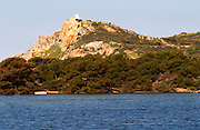 View from Sanary over the sea to the St Pierre des Embiez island Le Brusc Six Fours Var Cote d'Azur France