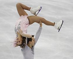 February 15, 2018 - Pyeongchang, KOREA - Annika Hocke and Ruben Blommaert of Germany compete in pairs free skating during the Pyeongchang 2018 Olympic Winter Games at Gangneung Ice Arena. (Credit Image: © David McIntyre via ZUMA Wire)