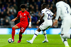 Serge Gnabry of Bayern Munich is challenged by Tanguy NDombele of Tottenham Hotspur - Rogan/JMP - 01/10/2019 - FOOTBALL - Tottenham Hotspur Stadium - London, England - Tottenham Hotspur v Bayern Munich - UEFA Champions League Group B.