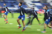 Leicester City's Shinji Okazaki during the pre-match warm-up <br /> <br /> Photographer Stephen White/CameraSport<br /> <br /> The Premier League - Leicester City v Middlesbrough - Saturday 26th November 2016 - King Power Stadium - Leicester<br /> <br /> World Copyright © 2016 CameraSport. All rights reserved. 43 Linden Ave. Countesthorpe. Leicester. England. LE8 5PG - Tel: +44 (0) 116 277 4147 - admin@camerasport.com - www.camerasport.com<br /> <br /> Photographer Stephen White/CameraSport<br /> <br /> The Premier League - Leicester City v Middlesbrough - Saturday 26th November 2016 - King Power Stadium - Leicester<br /> <br /> World Copyright © 2016 CameraSport. All rights reserved. 43 Linden Ave. Countesthorpe. Leicester. England. LE8 5PG - Tel: +44 (0) 116 277 4147 - admin@camerasport.com - www.camerasport.com