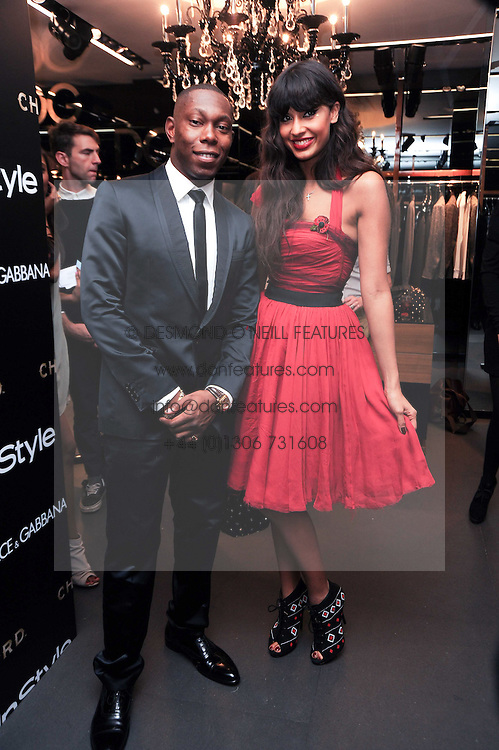 DIZZEE RASCAL and JAMEELA JAMIL at a party hosted by InStyle to celebrate the iconic glamour of Dolce & Gabbana held at D&G, 6 Old Bond Street, London on 3rd November 2010.