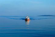 Taxi boat, or water taxi. Racisce, island of Korcula, Croatia