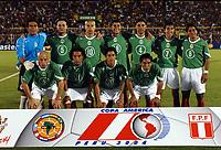 18/07/04 - PIURA - PERU - COPA AMERICA PERU 2004 - <br />Mexican Player - N*1 OSWALDO SANCHEZ - N*5 DUILIO DAVINO - N*10 ADOLFO BAUTISTA - N*18 SALVADOR CARMONA - N*4 RAFAEL MARQUEZ - N*7 OCTAVIO VALDEZ - N*8 PAVEL PARDO - N*6 GERARDO TORRADO - N*21 JESUS ARELLANO - N*20 RICARDO OSORIO - N*3 OMAR BRISEÑO -<br />© Gabriel Piko /Argenpress.com<br /><br />AMERICAN CUP  - Quarterfinals match of the Copa America 2004 - BRAZIL (4) VS. MEXICO (0) - BRASIL - <br />© Gabriel Piko /Argenpress.com