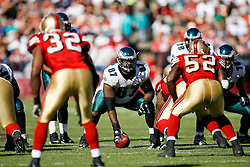 12 Oct 2008: Philadelphia Eagles center Jamaal Jackson #67 during the game against the San Francisco 49ers on October 12th, 2008. The Eagles won 40-26 at Candlestick Park in San Francisco, California. (Photo by Brian Garfinkel) (Photo by Brian Garfinkel)