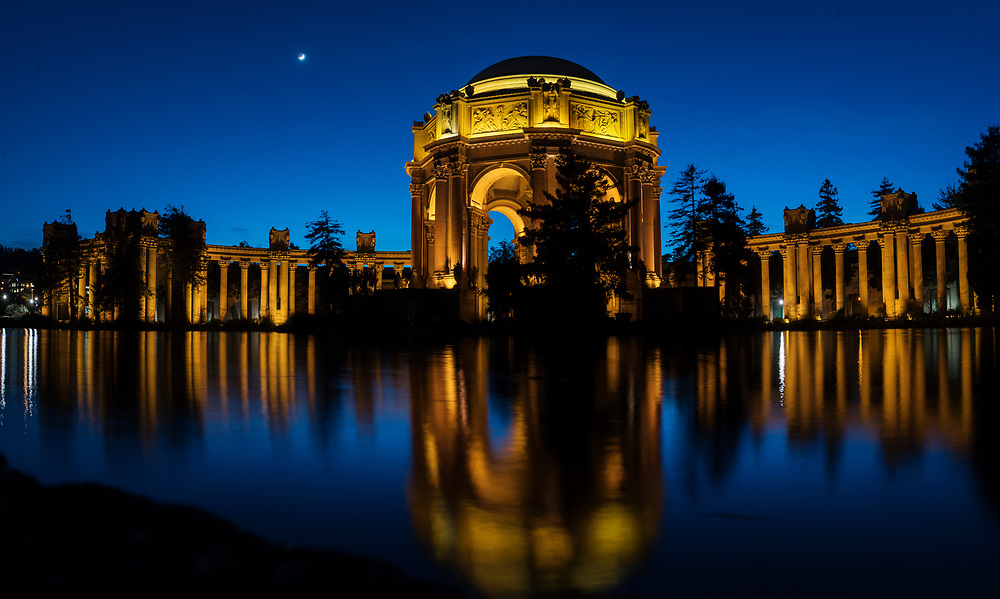 Located in the Marina District adjacent to Crissy Field, the Palace of Fine Arts is the only remnant of the magnificent World's Fair of 1915; The Panama-Pacific International Exposition. The World's Fair was a crowning achievement for the city of San Francisco, whose citizens had succeeded in almost completely rebuilding their city not even 10 years after the great earthquake of 1906 that turned over 75 percent of the city to rubble and ash. <br />  <br /> Built of cheap, temporary  materials for the sole purpose of the World's Fair, the palace was spared demolition after the fair and was in partial ruin by the 1960's. Conservation efforts succeeded in raising the necessary funds to partially demolish and rebuild the landmark to make it a permanent feature of the city skyline and culture.