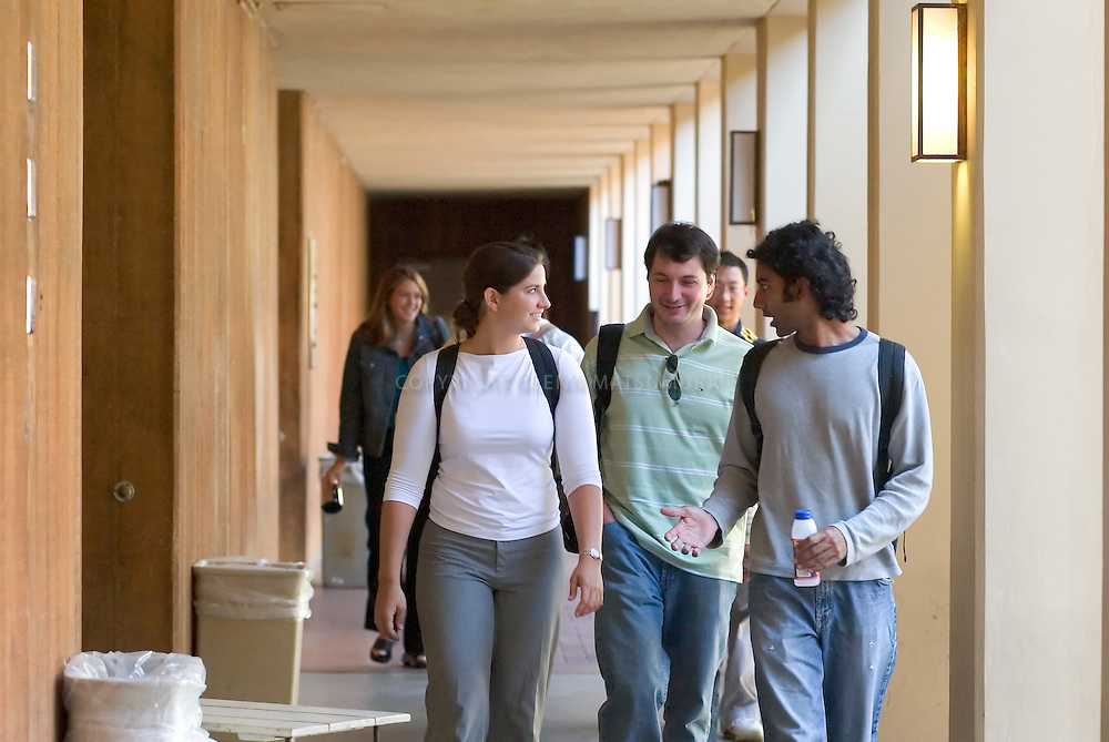 Stanford med students in hallway