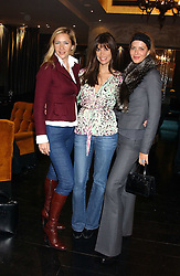 Left to right, TANIA BRYER, model LISA BARBUSCIA and TRINNY WOODALL at the 1st Baglioni Hotel's Designer Lunch featuring designs by Amanda Wakelel held at The Baglioni Hotel, 60 Hyde Park gate, London on 1st February 2006.<br />